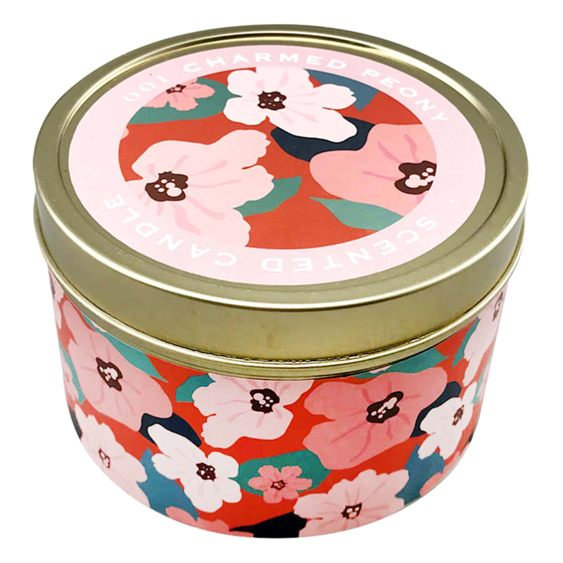 9oz Charmed Peony Candle Tin
