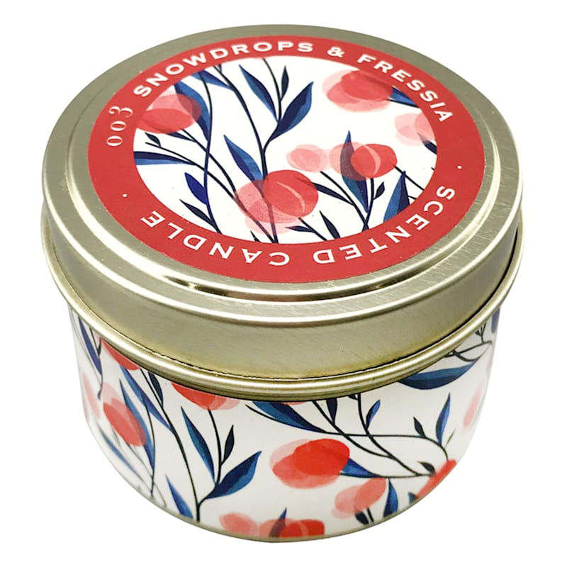 9oz Snowdrops Candle Tin