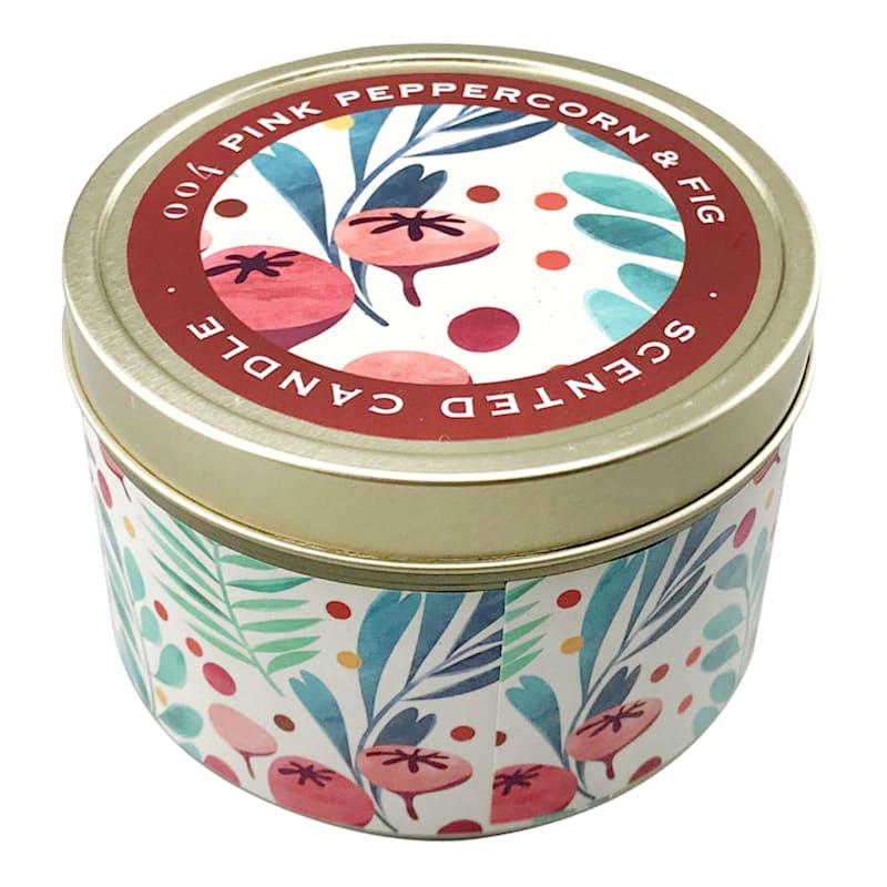 9oz Pink Peppercorn Candle Tin