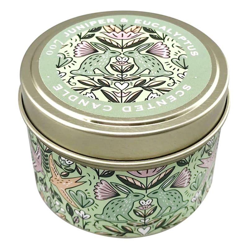 3oz Juniper And Eucalyptus Candle Tin