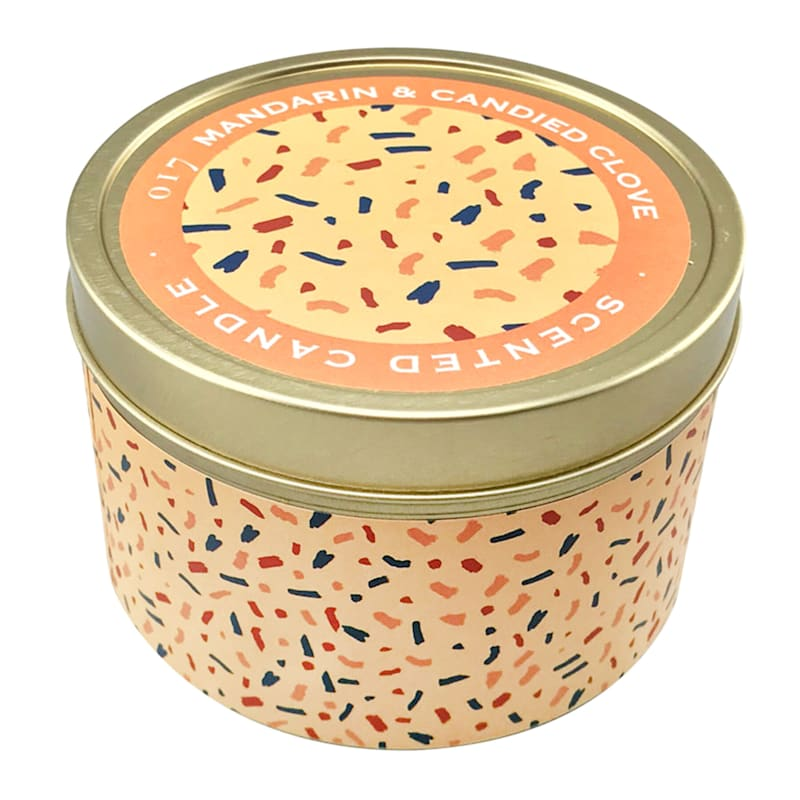 9oz Mandarin And Candied Clove Candle Tin