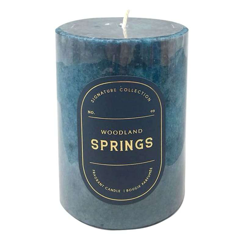 3X4 Woodland Springs Scented Pillar Candle
