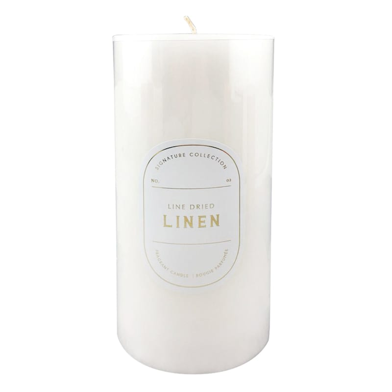 3X6 Line Dried Linen Scented Pillar Candle