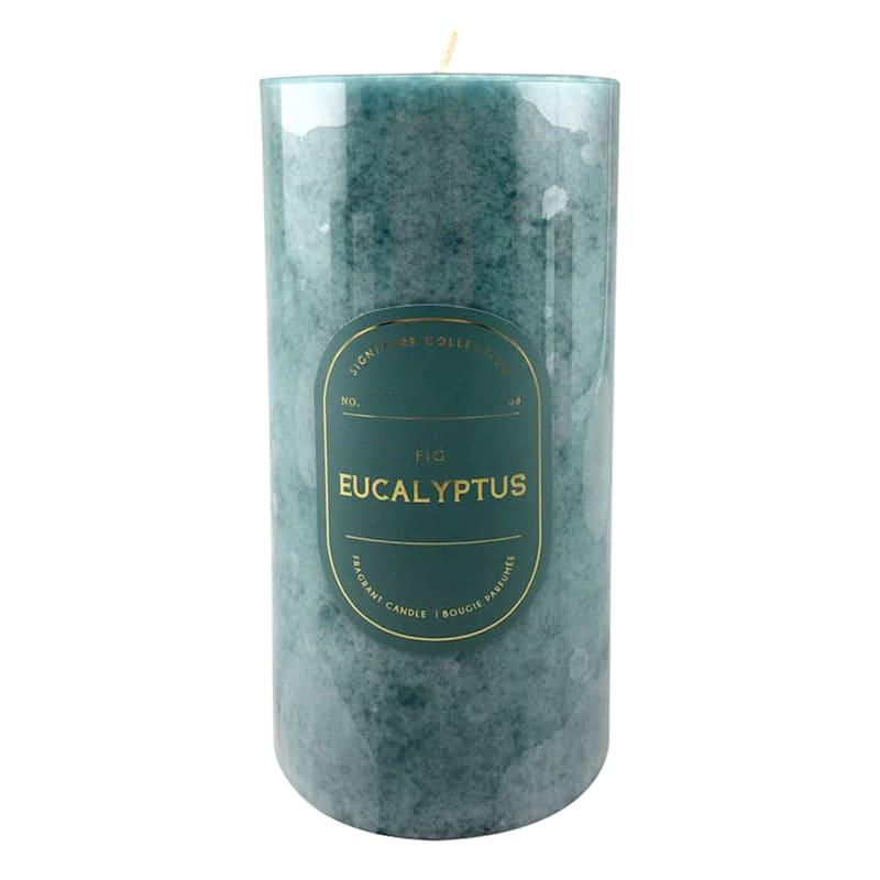 3X6 Eucalyptus Fig Scented Pillar Candle