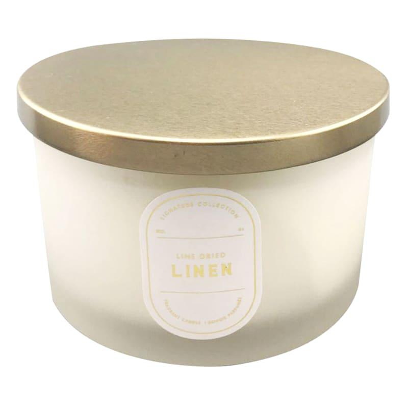 16oz 3-Wick Line Dried Linen Jar Candle