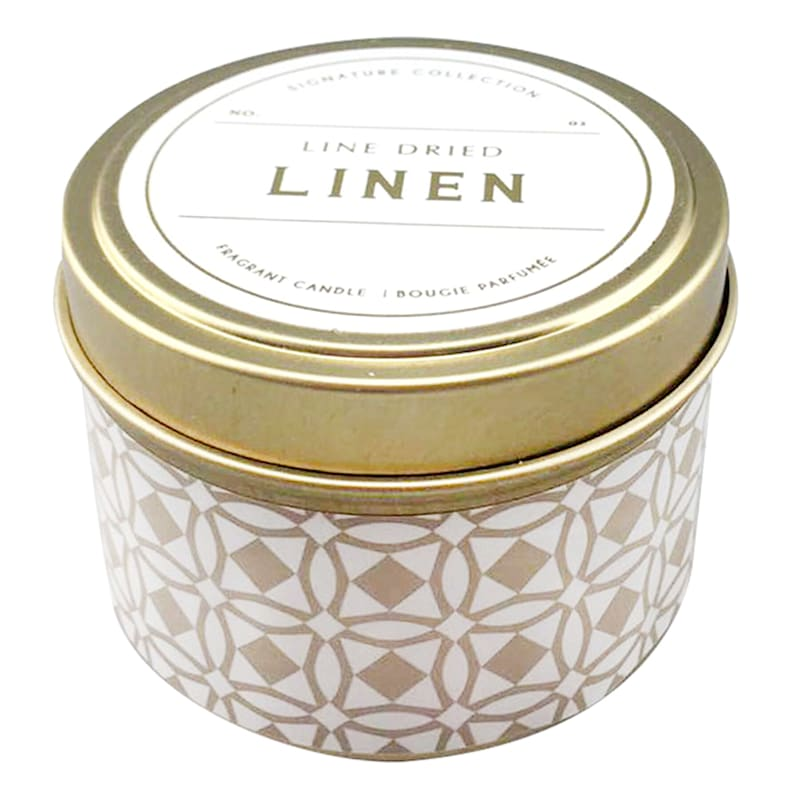 3oz Line Dried Linen Candle Tin