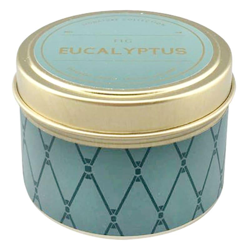 3oz Eucalyptus Fig Candle Tin Green-Fig Eucalyptus