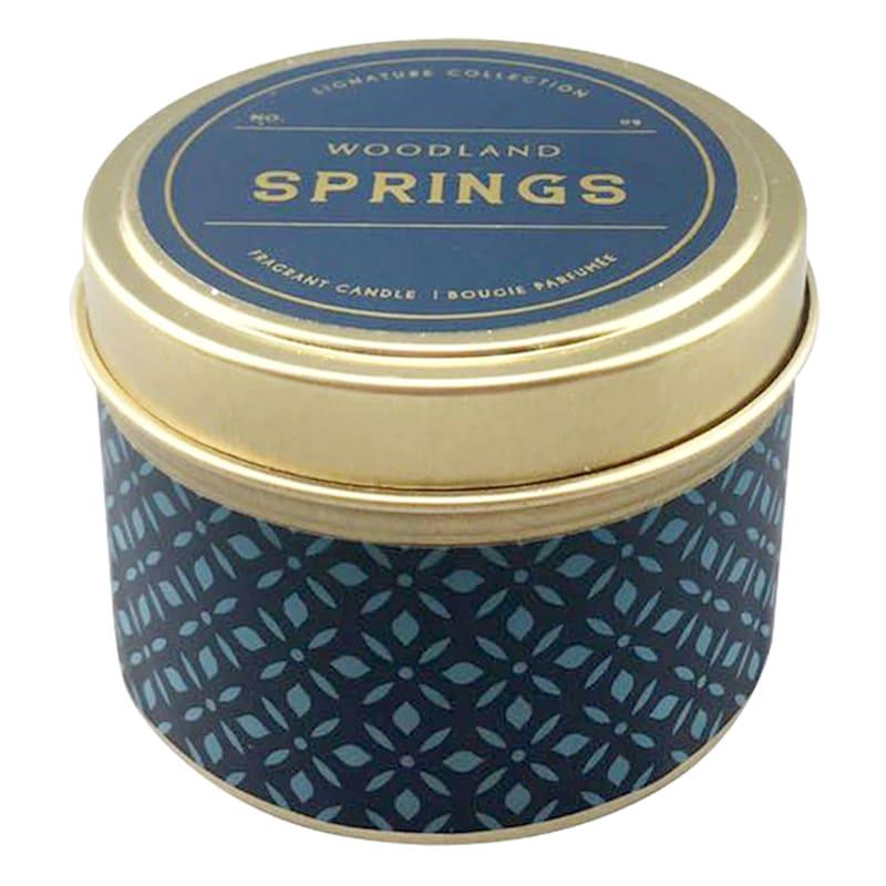 3oz Woodland Springs Candle Tin