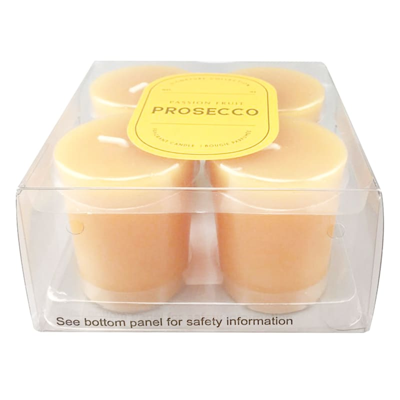 4-Pack Passion Fruit Prosecco Votive Candles
