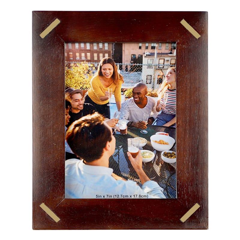 5X7 Photo Frame With Brass Inlay