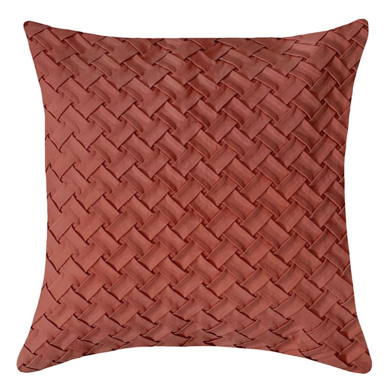 Burgundy Basketweave Pillow 18X18