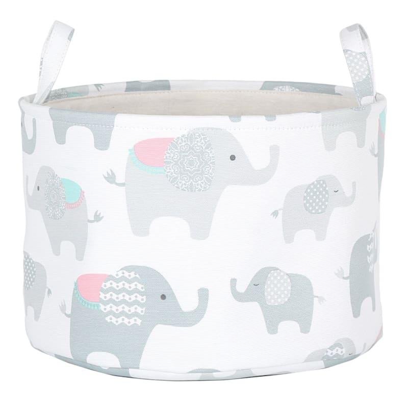 Round Soft Storage Elephant Print Bn S
