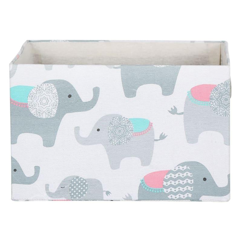 Rectangle Storage Elephant Print Bin L