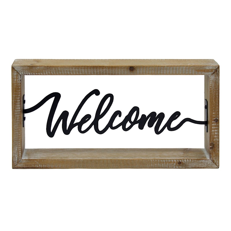 Wood Block Welcome Sign