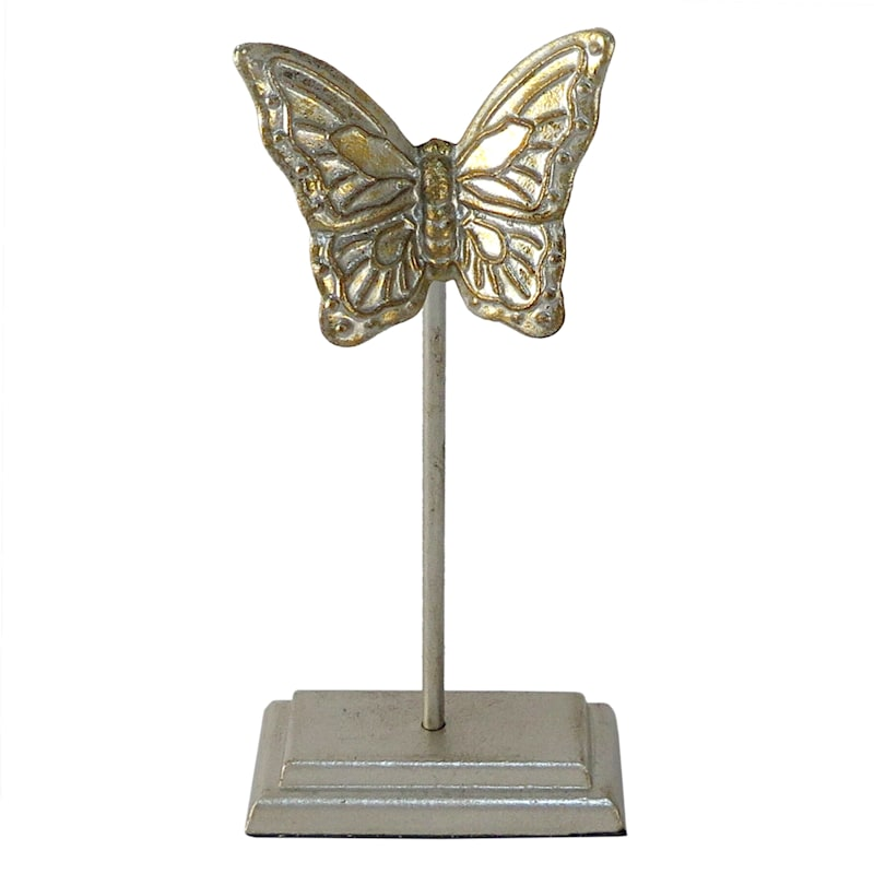 """Grace Mitchell White Gold Butterfly Stand, 10"""""""