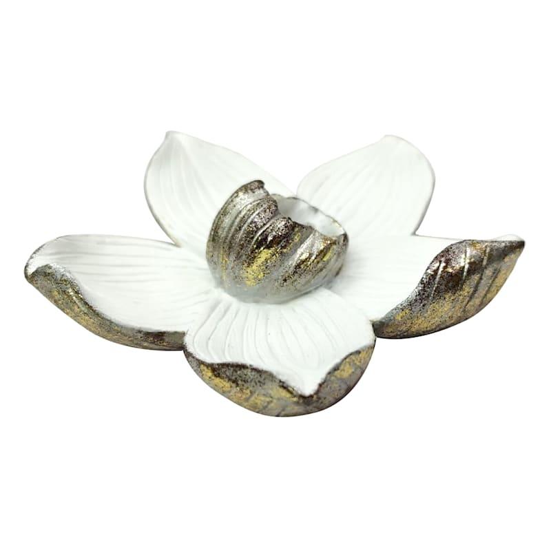 Grace Mitchell Ivory & Gold Flower Decor