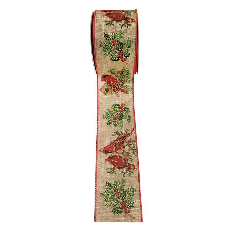 Red Cardinal Ribbon, 2.5in x 8yd