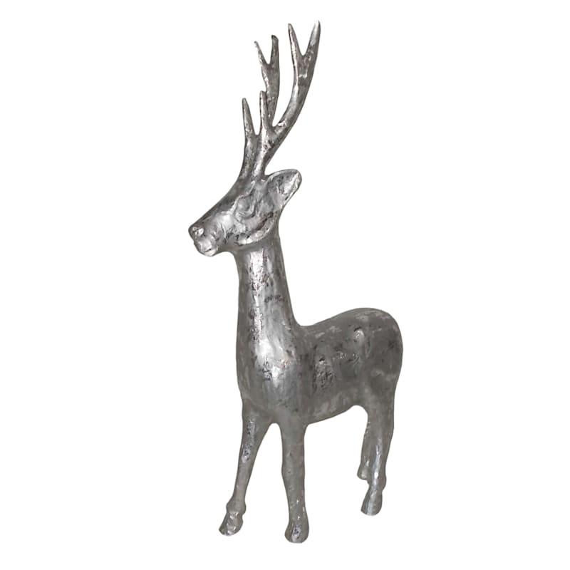 "Silver Standing Deer, 27"""