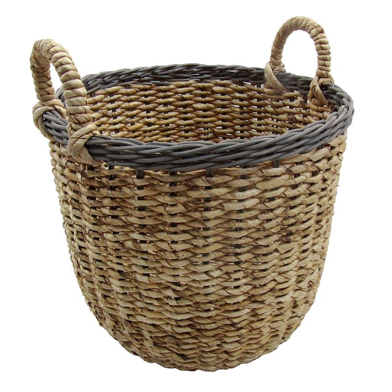 Banana Round Natural Large Basket/Rim Rattan