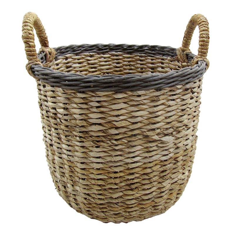 Banana Round Natural Medium Basket/Rim Rattan