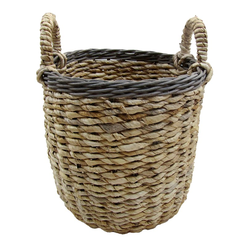 Banana Round Natural Small Basket/Rim Rattan