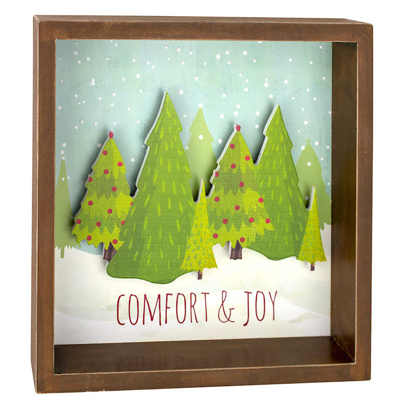Comfort and Joy Christmas Trees Sign