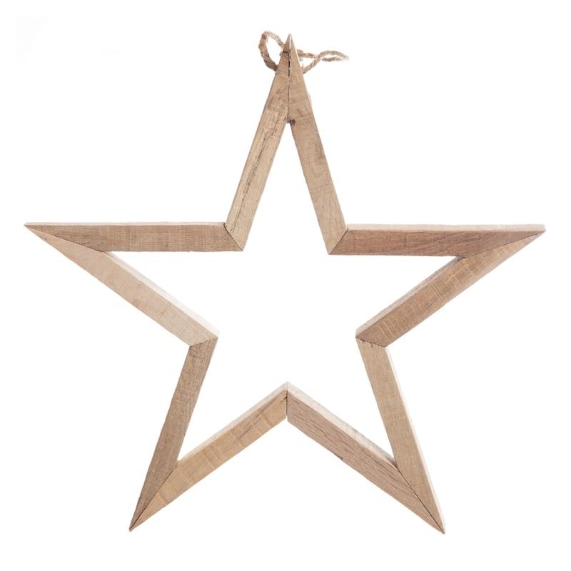 """Wood Star Ornament, 11"""""""