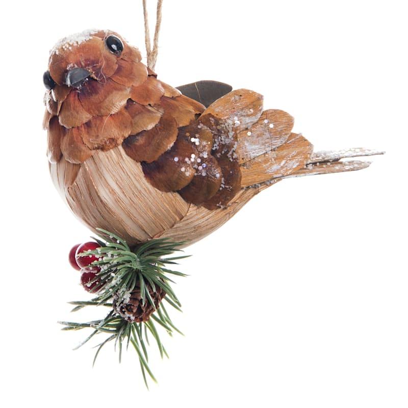"Bird Ornament, 4.25"""