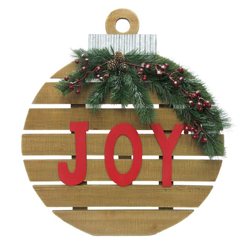 """Joy"" Ornament Leaner Sign, 20"""