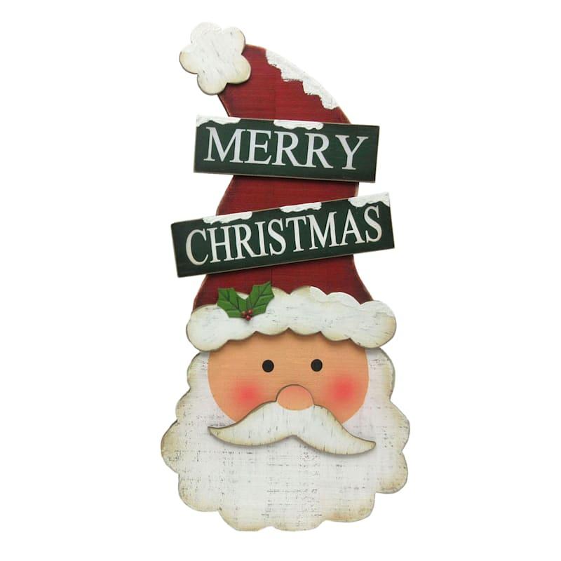 """""""Merry Christmas"""" Santa Leaner Sign, 27.5"""""""