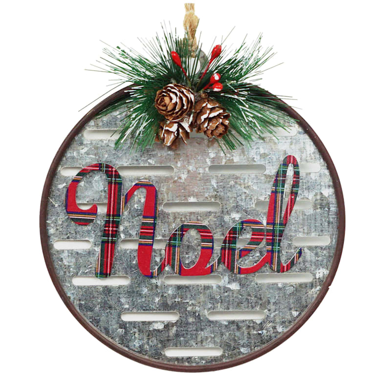 "Metal ""Noel"" Ornament, 5"""