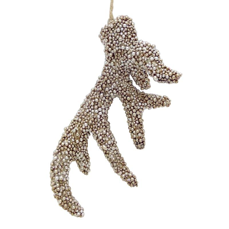 Beaded Antler Ornament