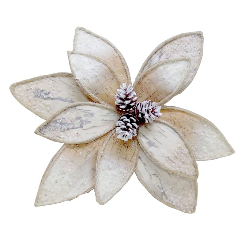 Poinsettia Flower Clip