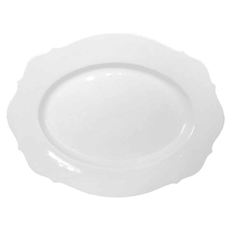 Grace Mitchell Splendor White Ceramic Platter, 19""