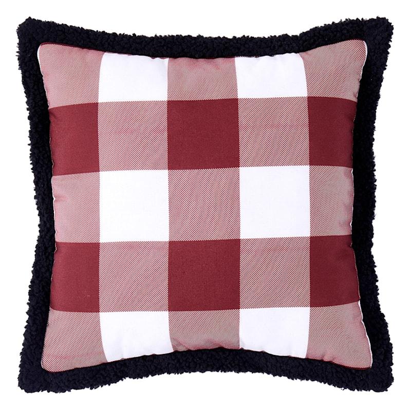 Red/White Buffalo Check Pillow 16X16