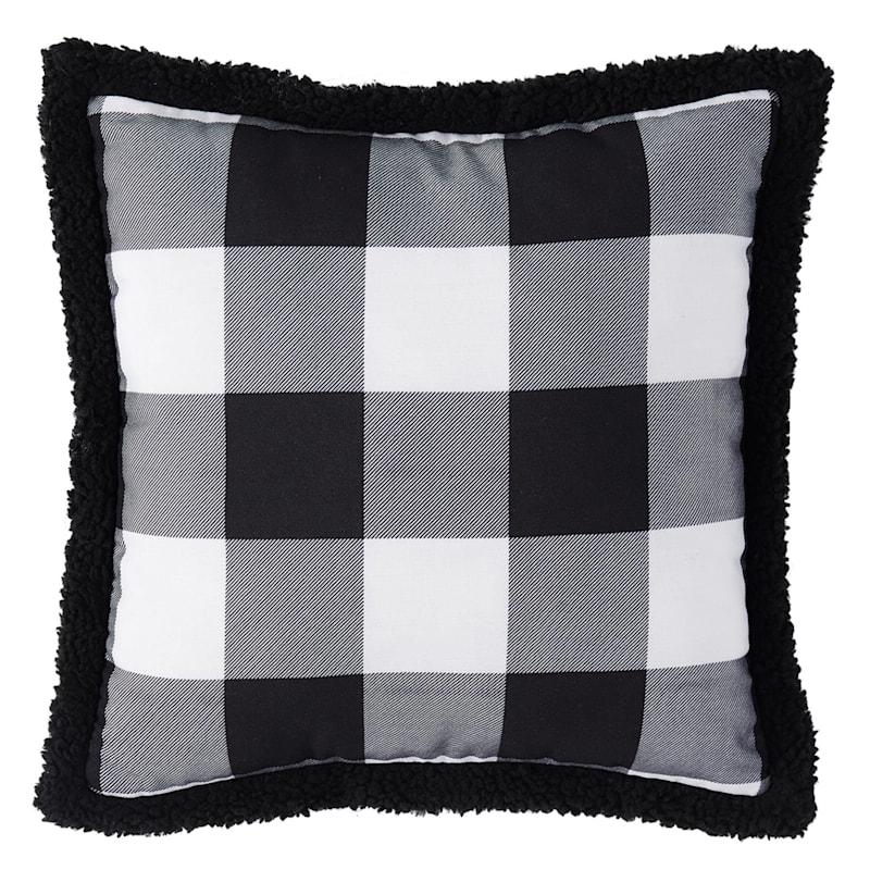 Black/White Buffalo Check Pillow 16X16