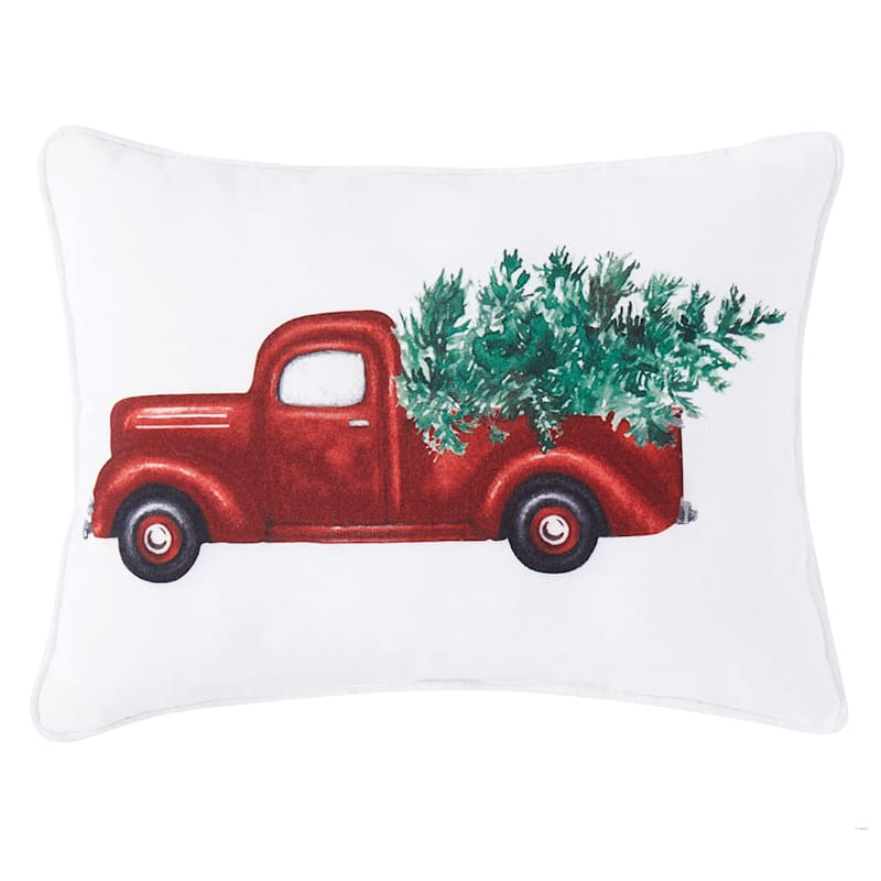 TRUCK AND TREE 12X16 PILLOW