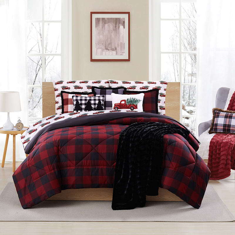 Buffalo Red & Black Comforter, Full/Queen