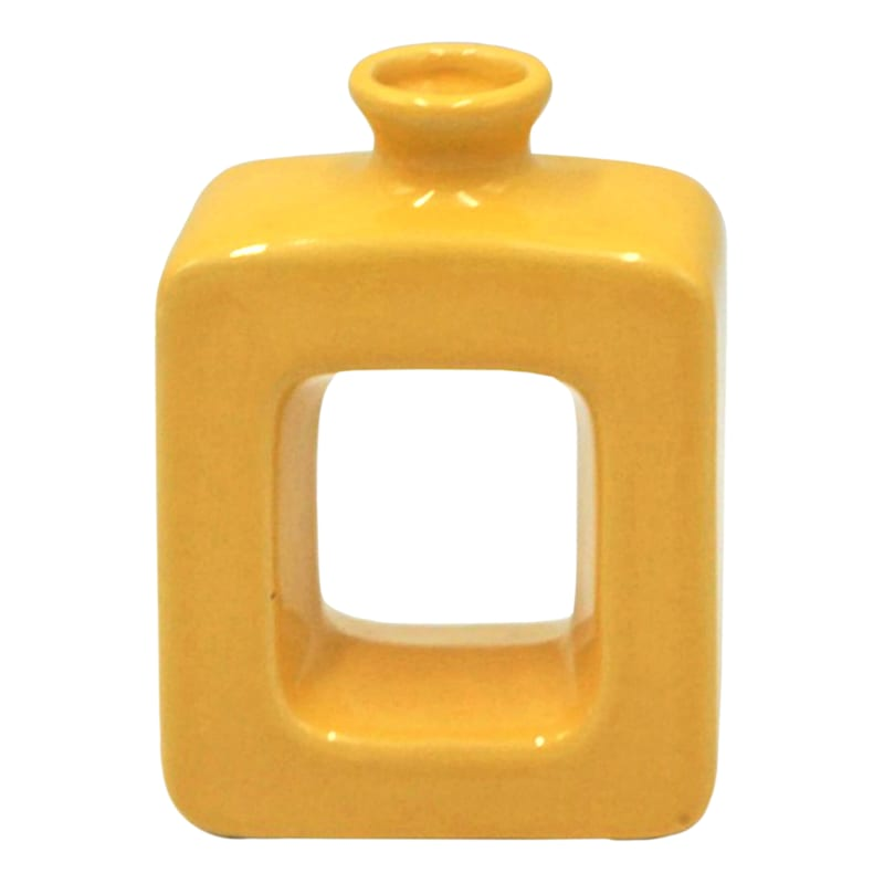 5X6 Yellow Cutout Vase