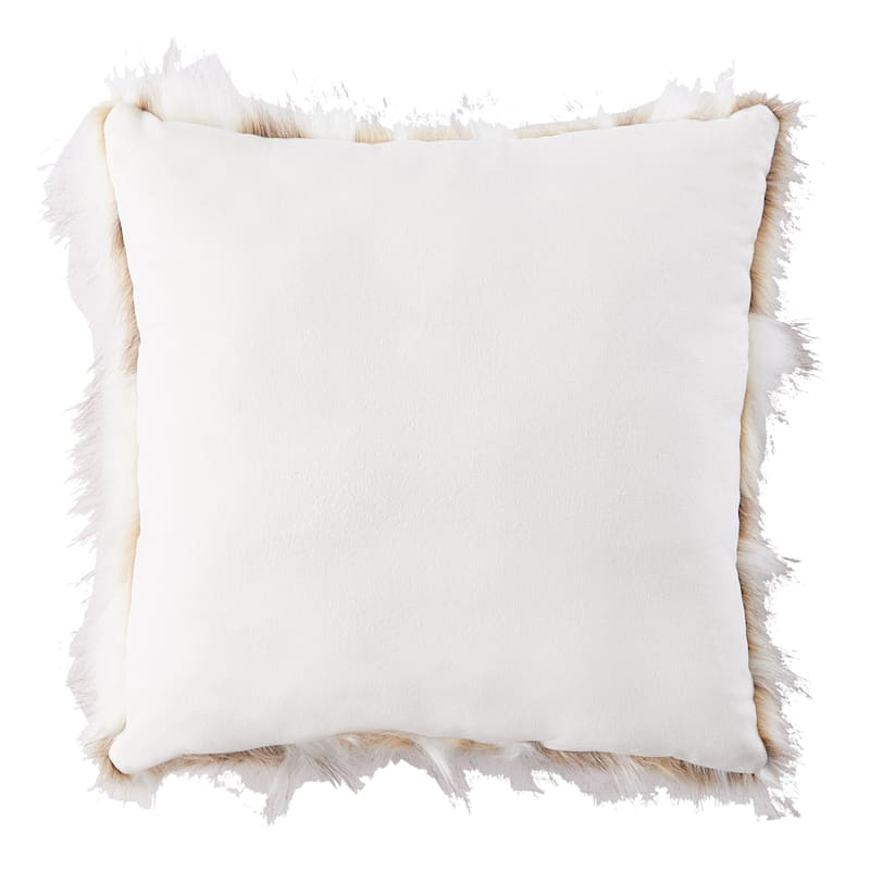 Faux Fur Marble Jacquard Pillow 18X18