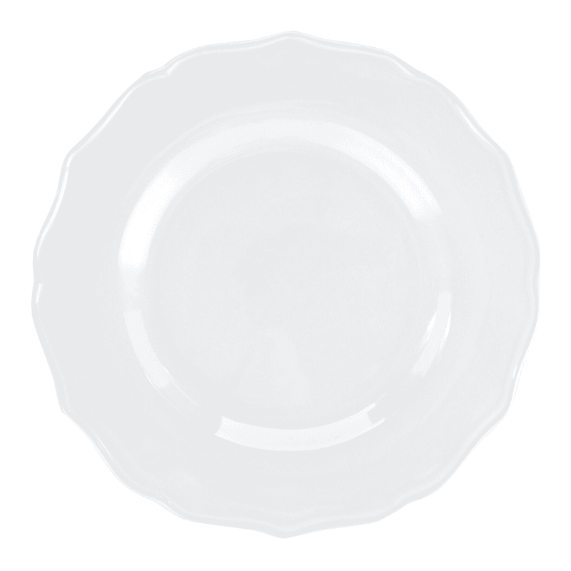 Grace Mitchell White Ruffle Edge Salad Plate