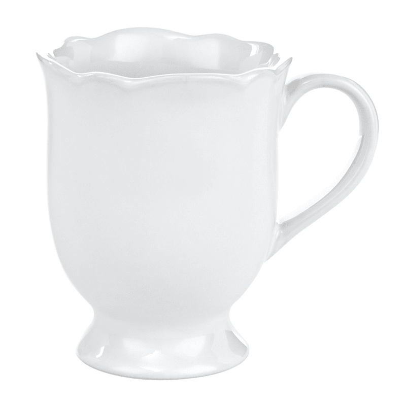 Grace Mitchell White Ruffle Edge Mug