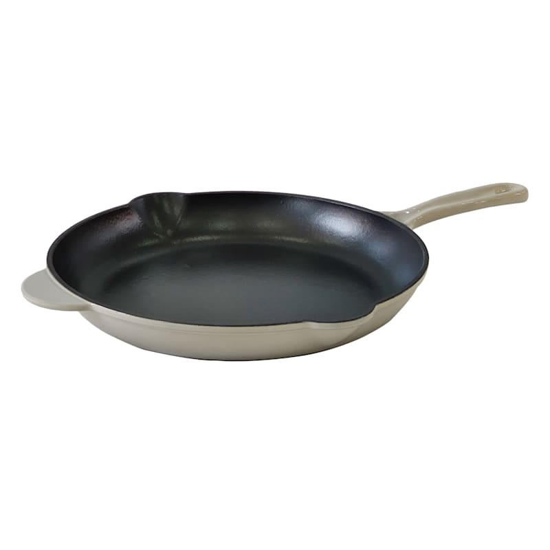 CAST IRON FRY PAN 12IN GREY