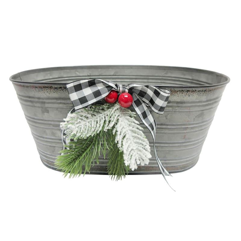 Large Galvanized Oval Bucket