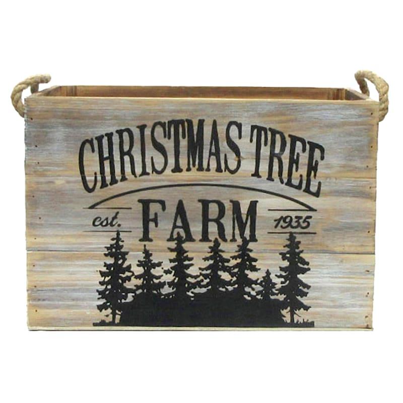 Christmas Tree Farm Wood Box, Medium
