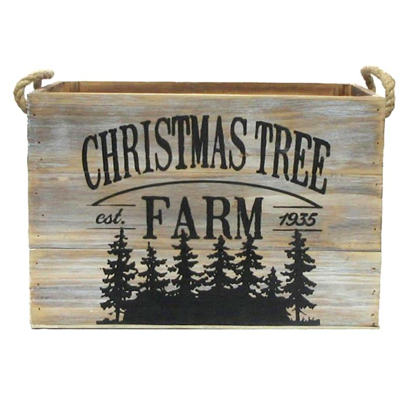 Christmas Tree Farm Wood Box, Large