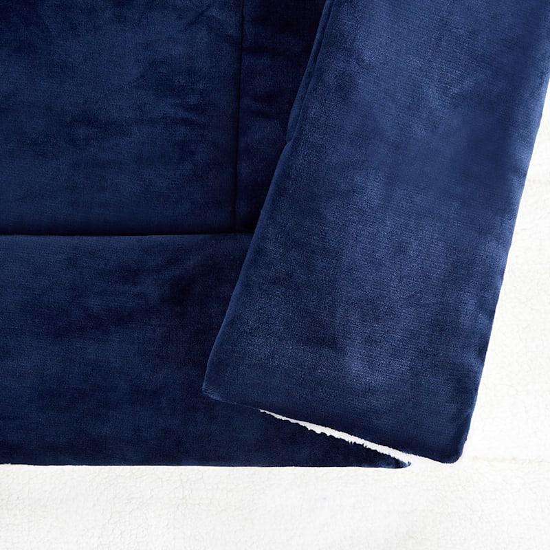 Sherpa Comforter Queen, Navy
