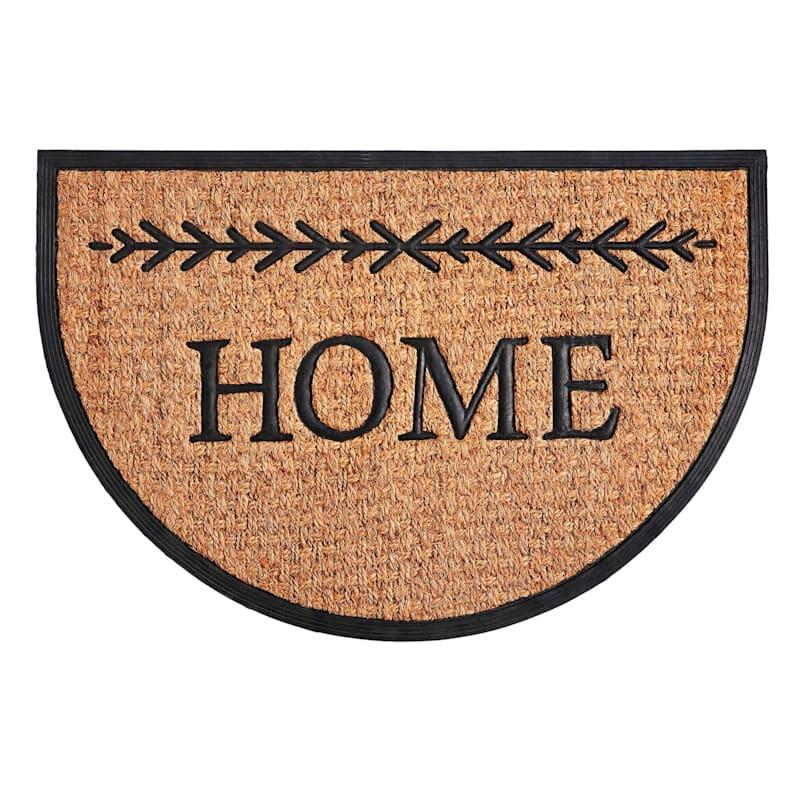 "Mansion ""Home"" Half-Oval Coir Doormat, 24"" x 36"""