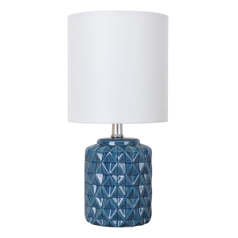 12in. Blue Ceramic Mini Accent Lamp