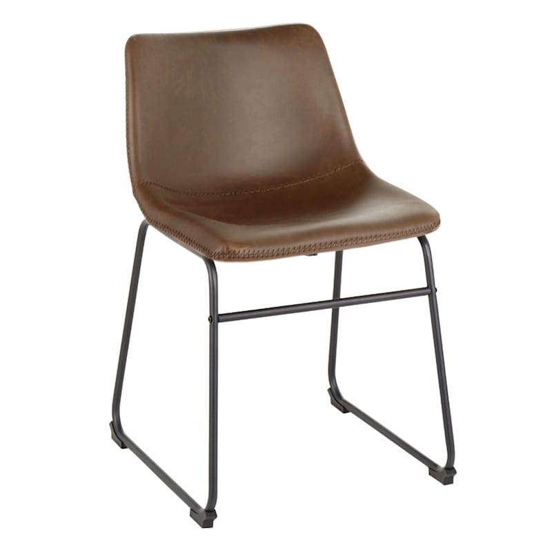 Duke Espresso Industrial Modern Dining Chair